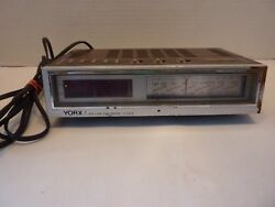 Retro YORX Telephone AM/FM Radio electronic digital Alarm Clock Model R514A