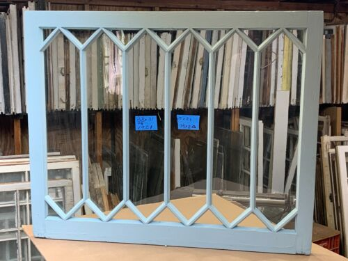 Vintage Rare Antique Mission style 20 panes Window sash 38 x 31 from 1900