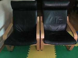 Chaises Poang de Ikea set de 2