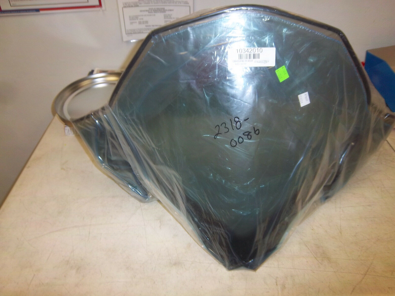 Powermadd Tinted with Black Fade Chassis Windshield for Ski Doo Rev XP  #13432