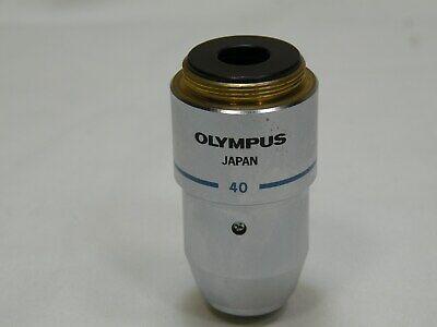 Olympus B-h2 Ch-2 Microscope Objective E A40 40x 0.65 1600.17 Works Fine