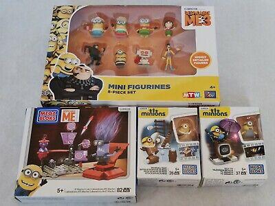 LOT Mega Bloks Minions Bataille de Boules de Neige TV Mattel FIGURINES...