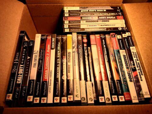 Wholesale Lot 25+ Mixed Video Games Lot K