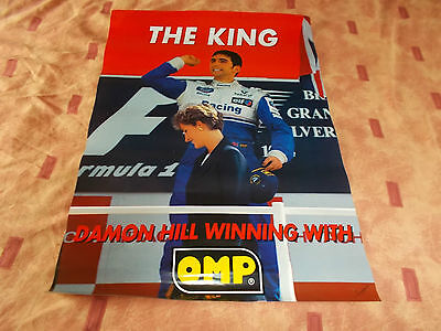 OMP Damon Hill /Princess Diana poster- race/trackday/Formula1/British Grand Prix
