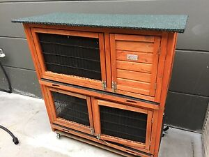 Two storey rabbit/guinea pig hutch rabbit cage Cecil Hills Liverpool Area Preview