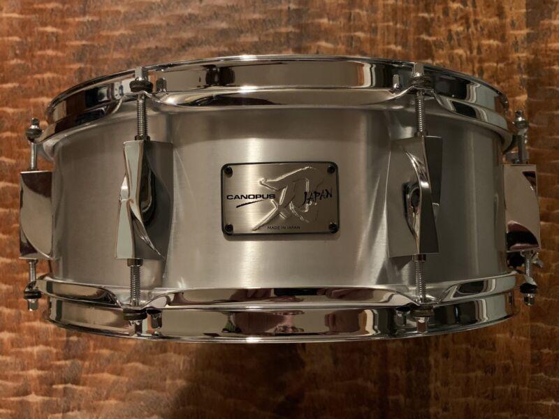 Canopus 14x5 JSA 1450 Yaiba Aluminum Shell Snare Drum Pristine