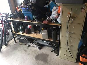 Work bench and cabinet