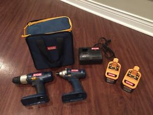 Drill Set 18 V Ryobi with Charger