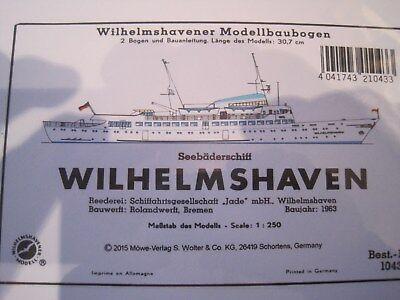 Wilhelmshaven Bäderschiff Wilhelmshavener Modellbaubogen Bastelbogen Kartonmodel