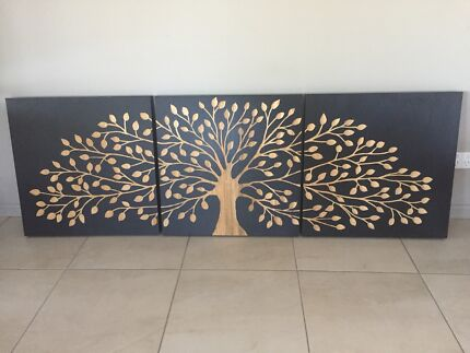 Tree of Life Wooden Triptic
