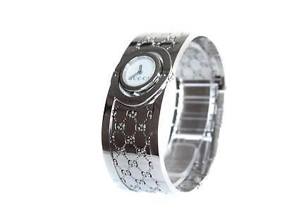 835e8231dcb Auth GUCCI 112 White Dial Stainless Steel Quartz Ladies Watch GW1611