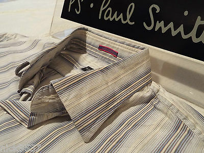 """PAUL SMITH Mens Shirt 🌍 Size 16"""" (CHEST 42"""") 🌏 RRP £95+ 🌏 SUPERBLY STRIPED"""