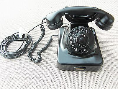 Altes sehr gepflegtes Krone  Bakelit Post Telefon W48 schwarz 1950/60 Jahre