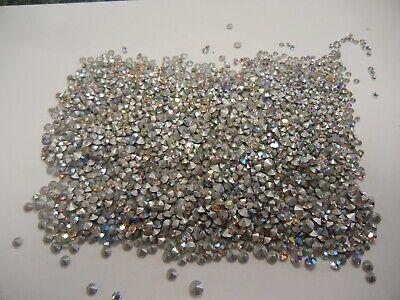 20ss Crystal Ab Swarovski Rhinestones - 200 swarovski rhinestones,17pp to 20ss crystal AB #1100