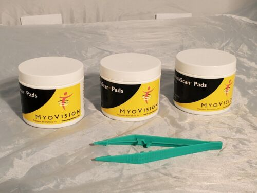 3 new jars of MyoVision QuickScan Pads with tweasers
