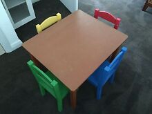 Tot Tutors Table and Chairs New Lambton Newcastle Area Preview