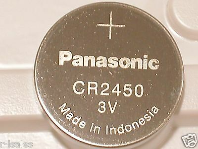 2 NEW PANASONIC CR2450 CR 2450 3v LITHIUM BATTERY EXPIRE 2024