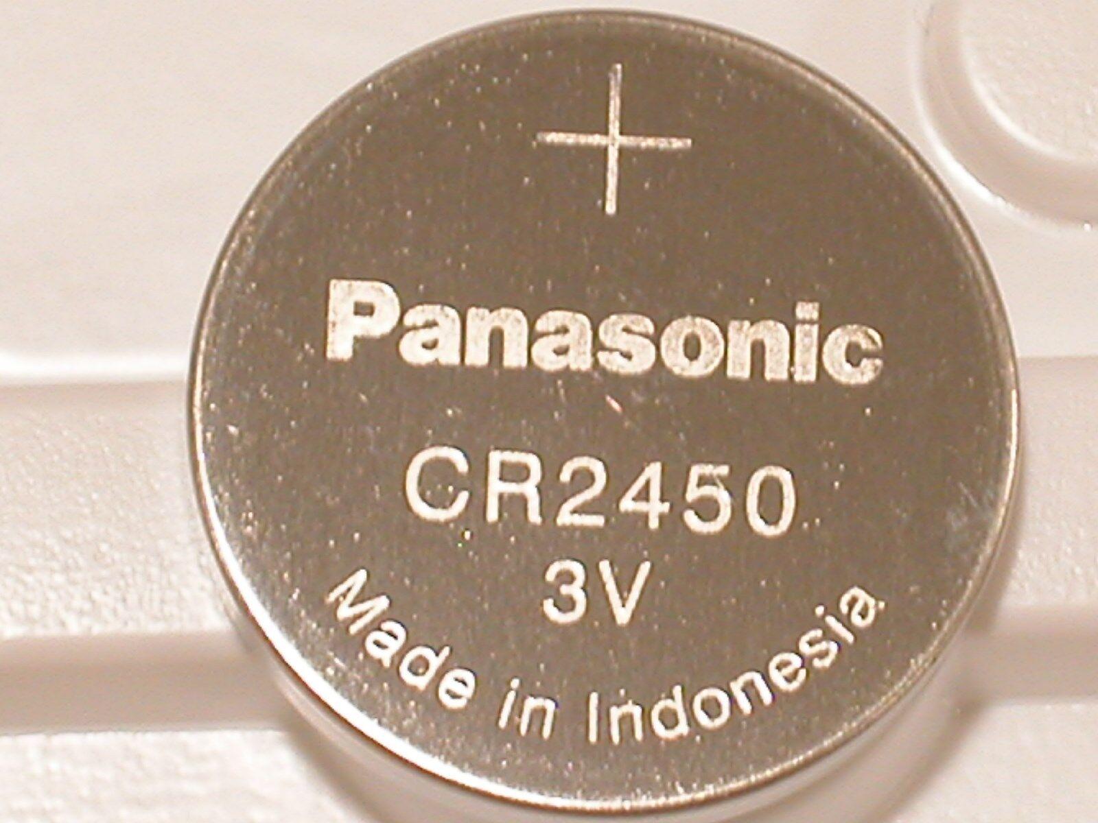 2 NEW PANASONIC CR2450 CR 2450 3v LITHIUM BATTERY EXPIRE 2024