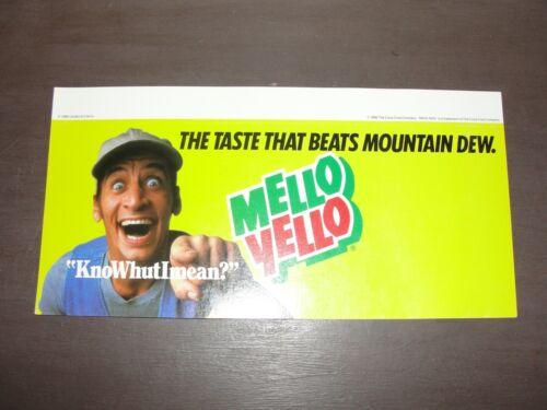 Vintage Mello Yello Store Advertising Vern KnoWhutImean? 1986 Carden Cherry RARE