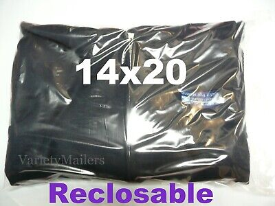100 Extra Large 14x20 Reclosable Plastic Seal-top Clear Merchandise Bags