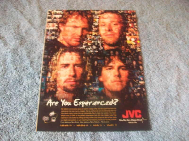 """2002 JVC Electronics Ad with Rock Band Nickelback """"Are You Experienced"""""""