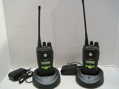Lot Of 2 Motorola Pr400 Uhf 438-470 Mhz 4w Two Way Radio Aah65rdf9aa3an