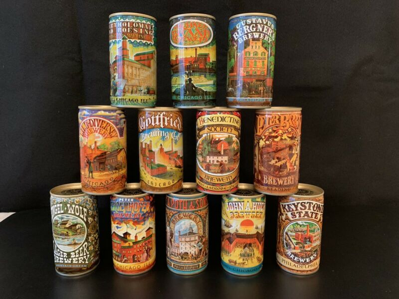1978 AMERICAN BREWERS HISTORICAL BEER CANS #1 - #12 - JOS. HUBER BREWING
