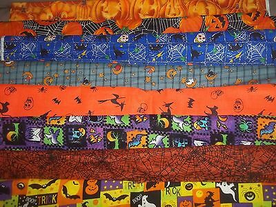 (HALLOWEEN Trick Or Treat BTY Cotton QUILT Fabric U-PICK see listing for details)