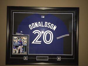 Josh Donaldson Blue Jays jersey. Autographed and framed