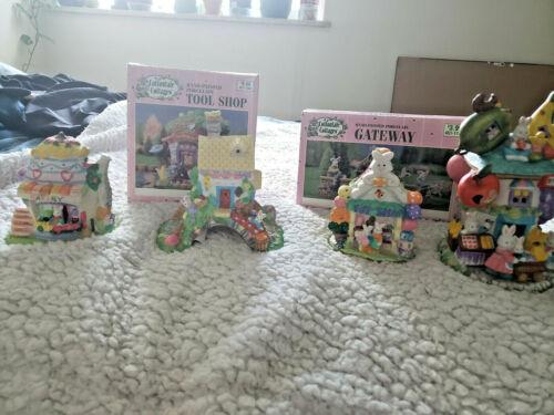 Lot of Cottontale Cottages Village Pieces Easter Decor 6 Pieces-