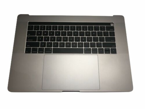 """OEM MacBook Pro A1707 15"""" 2016 2017 Top Case W/Battery Trackpad Touch bar Gray"""