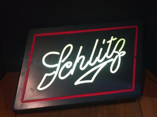 Vintage Light Up Bar Sign Advertising Schlitz Beer
