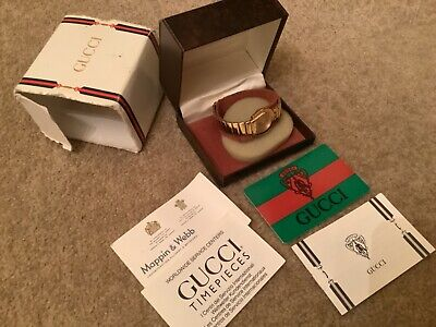 Boxed Vintage GUCCI Ladies Quartz Gold Stainless Steel Watch - with Paperwork