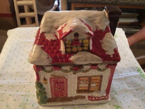 Toy Store Christmas ceramic cookie jar