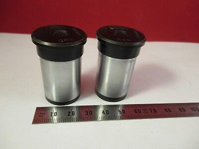 Pair Zeiss Germany C8x Ocular Eyepiece Microscope Part Optics Ft-4-25