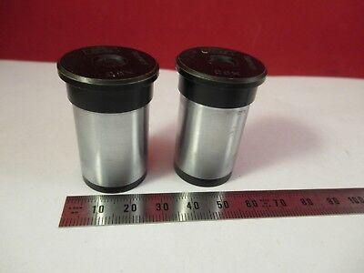 Pair Zeiss Germany C8x Ocular Eyepiece Microscope Part Optics Ft-4-25