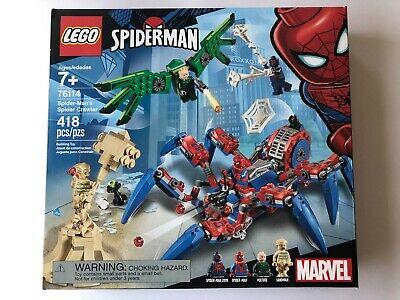 Lego Marvel Spiderman Super Heroes SPIDER-MAN'S SPIDER CRAWLER Set 76114 New!