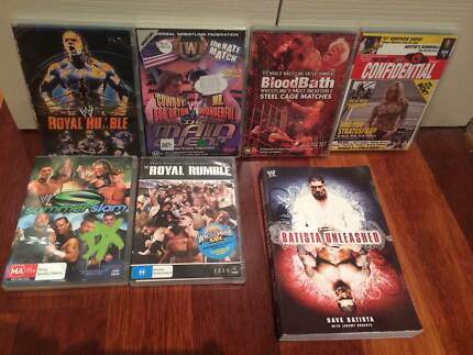 World Wrestling Entertainment pack DVDs and Book ('90's-00's) Langwarrin Frankston Area Preview
