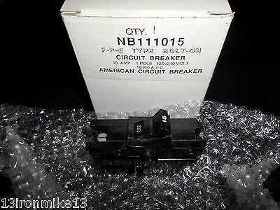 New In Box American Fpe Nb111015 Circuit Breaker 1 Pole 15 Amps 120240 Vac