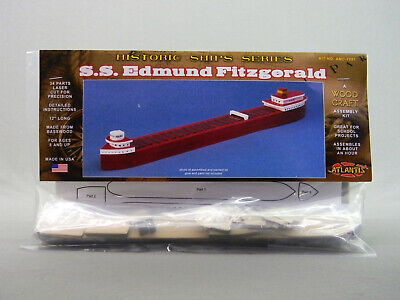 ATLANTIS TOY S.S. EDMUND FITZGERALD WOODEN SHIP KIT model historic boat AMC7001 ()