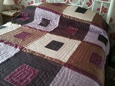 Hand Stitched Quilted Bed Spread Kingsize