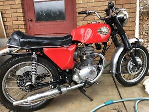 Antique BSA 250 motorcycle reduced