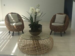 Cane wicker chair set Woolwich Hunters Hill Area Preview