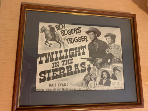 TWILIGHT IN THE SIERRAS-11x14 PROMO-ROY ROGERS Matted Framed 18x15 - $50.00