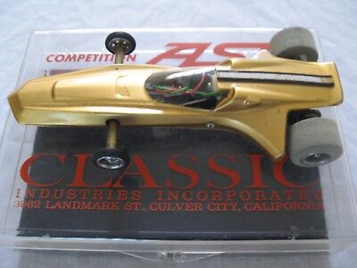 VINTAGE CLASSIC INDUSTRIES COMPETITION ASP SLOT CAR WITH RARE ACRYLIC BOX