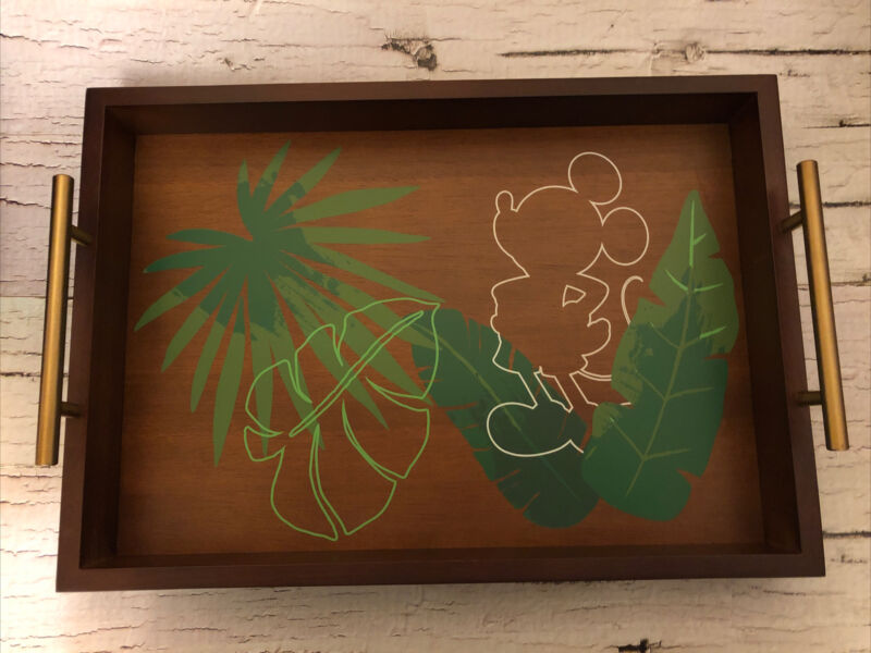 Disney Mickey Mouse Tropical Wood Serving Tray New 2021- SOLD OUT!!!