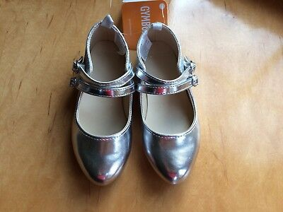 NWT Gymboree Fun and Fancy Girls Silver Flats Dress Shoes Holiday Many Sizes