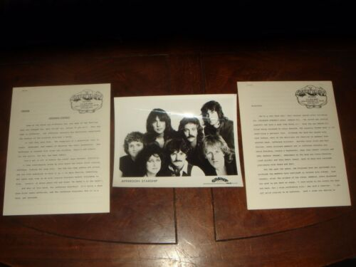 Ultra Rare JEFFERSON STARSHIP Dragon Fly 1974 GRUNT RECORDS PRESS KIT 11 pieces