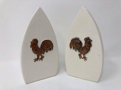 Japan Rooster (VG Japan Vintage Rooster Iron Salt Pepper Shakers Large Size 5