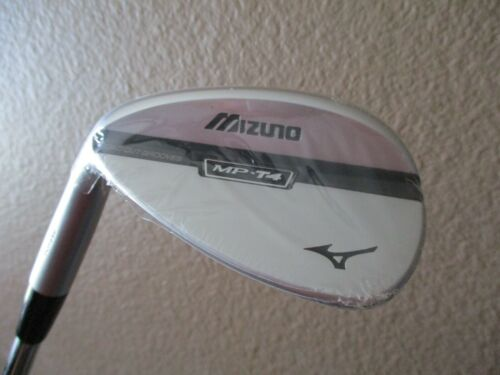 NEW LH MIZUNO MP-T4 FORGED WHITE SATIN 56* SAND WEDGE DYNAMIC GOLD SPINNER 56.13